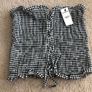 NWT express gingham top